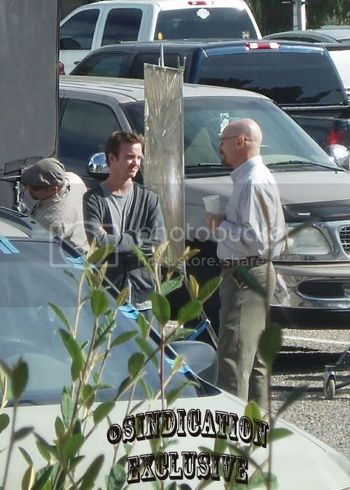 Cranston On Set